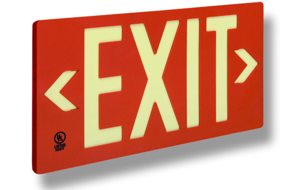 Red UL 924 Exit Sign