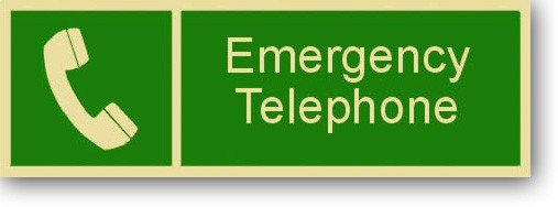 "Emergency Telephone 12"" x 4"""