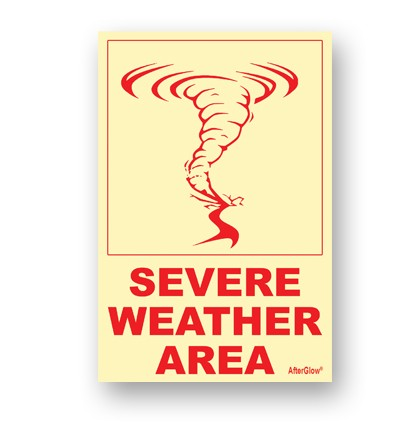 Severe Weather Area Sign