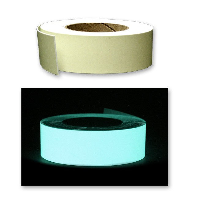 Semi-Rigid Blank Photoluminescent Tape