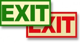 "Non-UL-Rated Exit Sign 12"" x 8"""