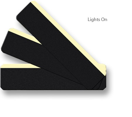 Lights On - Stair Treads, Non-Skid Peel & Stick with Photoluminescent Accent Stripe