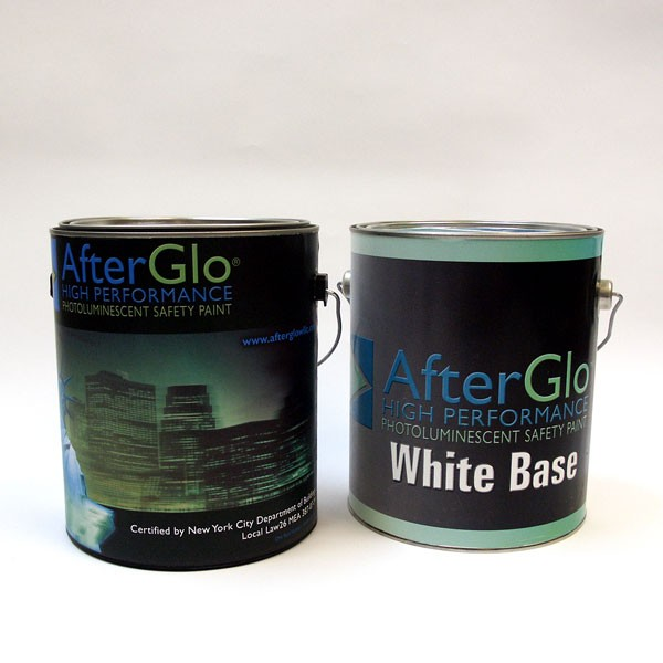 NYC MEA Approved, High Performance, Photoluminescent Green, Building Safety Paint