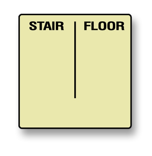 Photoluminescent Stairwell & Floor Custom Identification Sign (NYC)