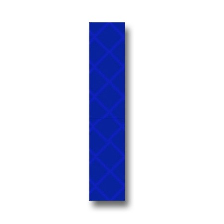Retroreflective 2 inch Letter I - Blue - Package of 10