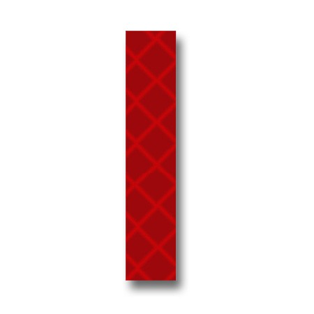 Retroreflective 2 inch Letter I - Red - Package of 10