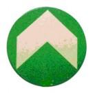 Wayfinding Dot with Dir. Chevron for Loop Pile Carpet