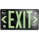 AfterGlow, LLC UL 924 EXIT Sign, Black, Double Face, 50' Viewing Distance