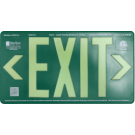 AfterGlow, LLC UL 924 EXIT Sign, Green, Single Face, 50' Viewing Distance