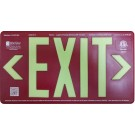 AfterGlow, LLC UL 924 EXIT Sign, Red, Single Face, 50' Viewing Distance