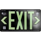 AfterGlow, LLC UL 924 EXIT Sign, Black, Single Face, 75' Viewing Distance