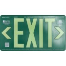 AfterGlow, LLC UL 924 EXIT Sign, Green, Double Face, 75' Viewing Distance