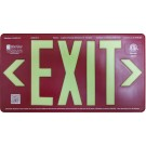 AfterGlow, LLC UL 924 EXIT Sign, Red, Double Face, 75' Viewing Distance