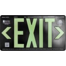 AfterGlow, LLC UL 924 EXIT Sign, Black, Single Face, 100' Viewing Distance