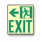 "Photoluminescent Wall Mount ""Exit"" Left Sign (NYC)"