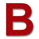 Retroreflective 2 inch Letter B - Red - Package of 10
