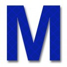 Retroreflective 2 inch Letter M - Blue - Package of 10