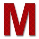 Retroreflective 2 inch Letter M - Red - Package of 10