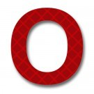 Retroreflective 2 inch Symbol O - Red - Package of 10