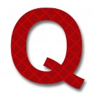 Retroreflective 2 inch Letter Q - Red - Package of 10