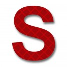 Retroreflective 2 inch Letter S - Red - Package of 10